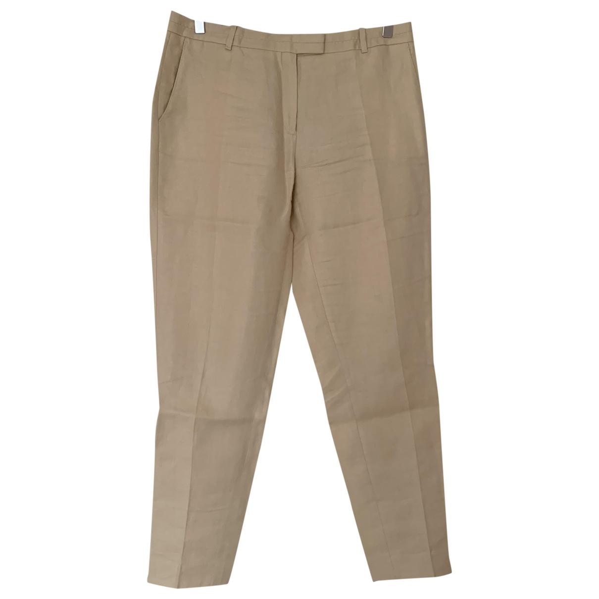 Pantalon zanahoria de Lino Massimo Dutti