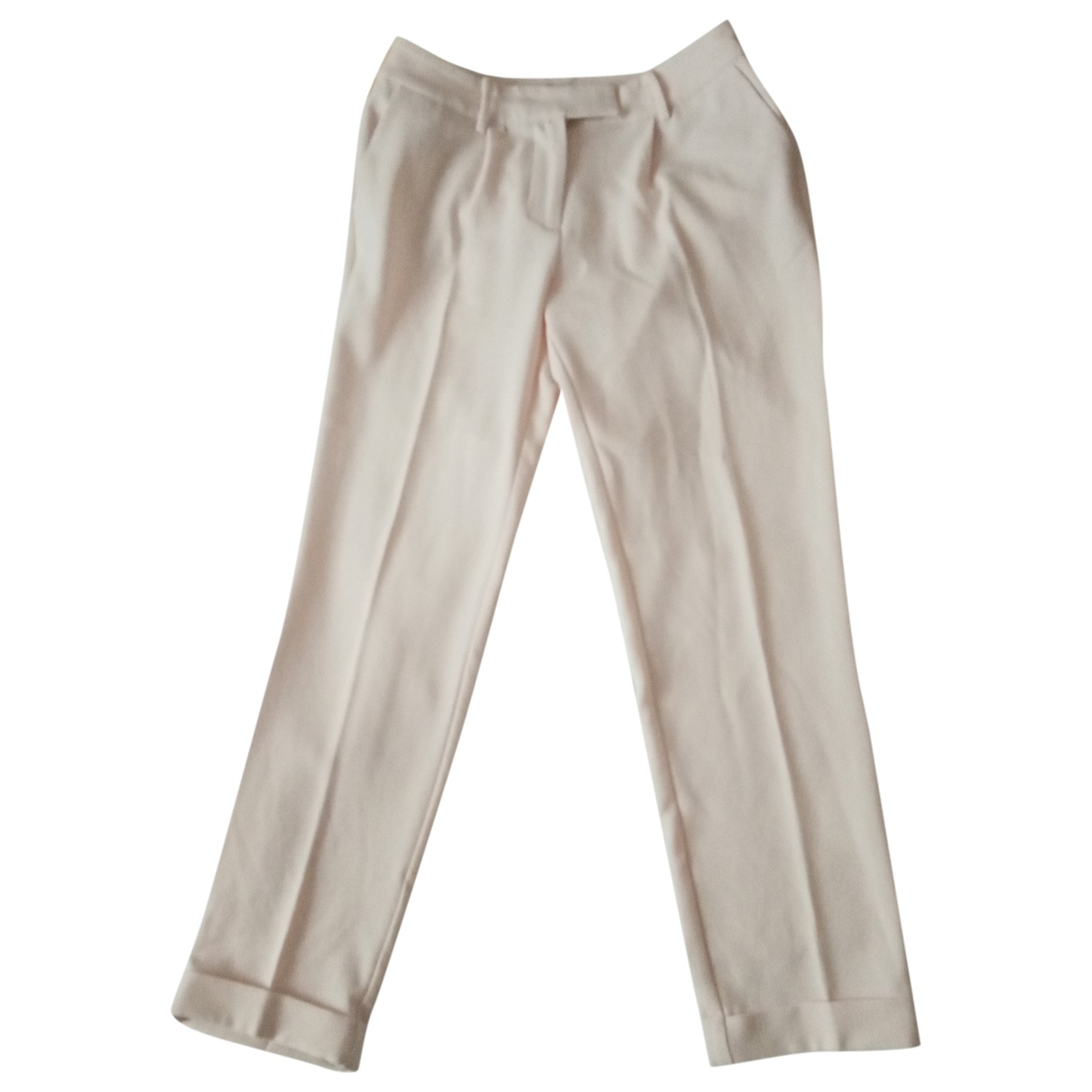 Guess \N White Trousers for Women 42 IT
