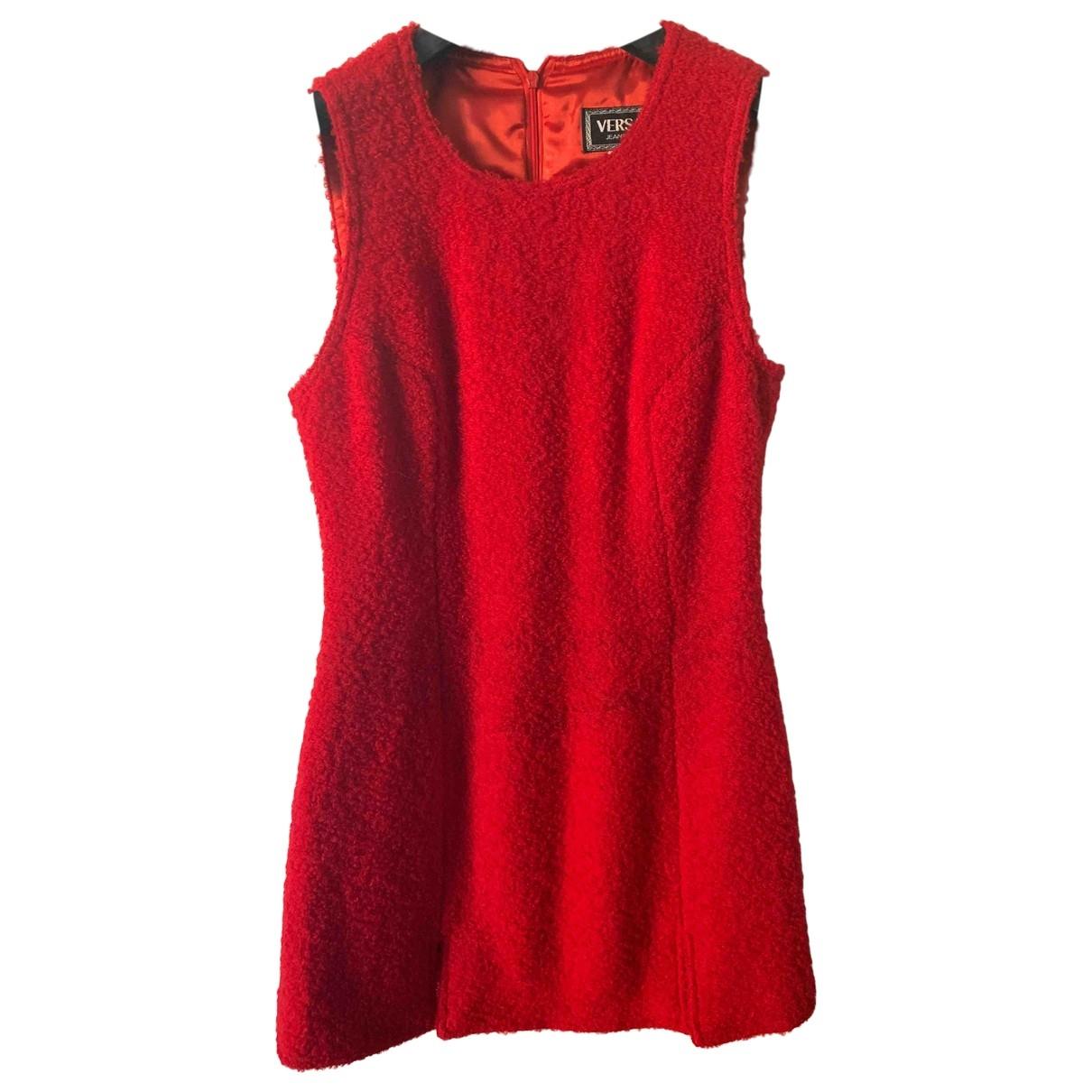 Versace Jean - Robe   pour femme en laine - rouge