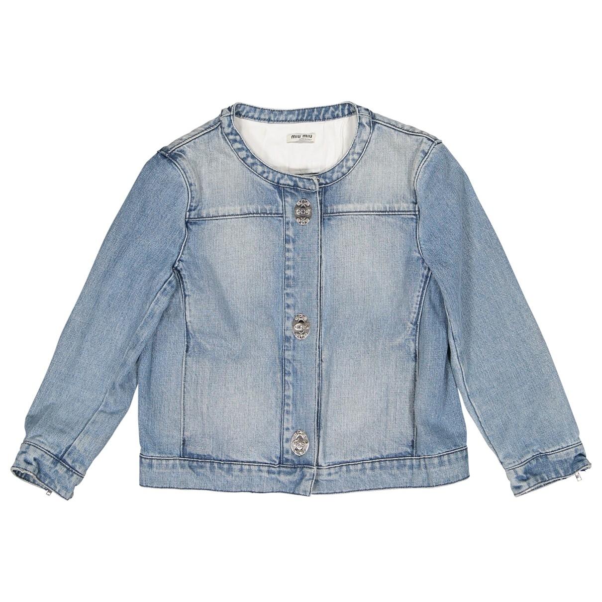 Miu Miu \N Blue Denim - Jeans jacket for Women 40 IT