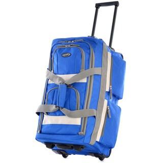 Olympia 26-inch 8-pocket Rolling Upright Duffel Bag (Royal Blue)