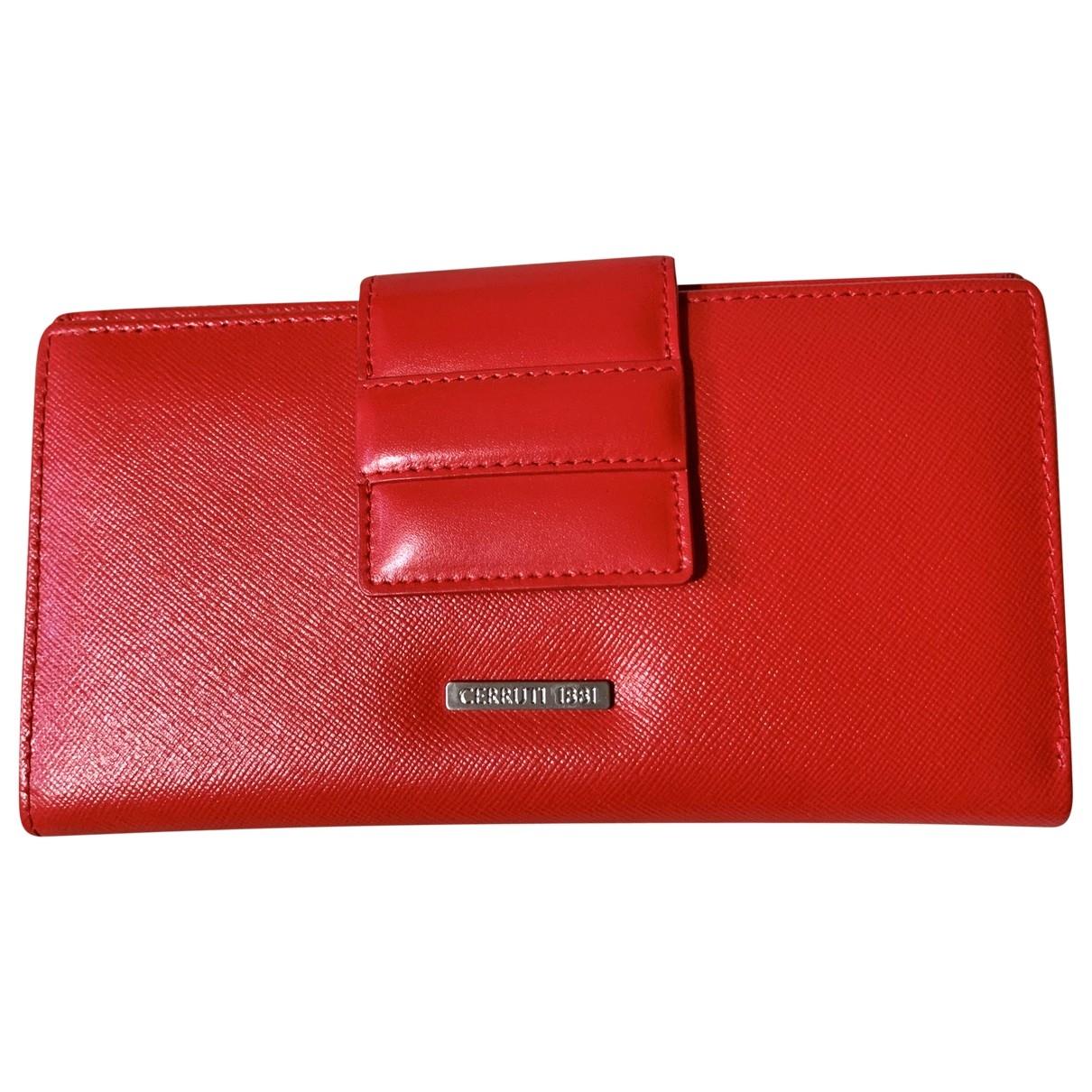 Cerruti \N Red Leather wallet for Women \N