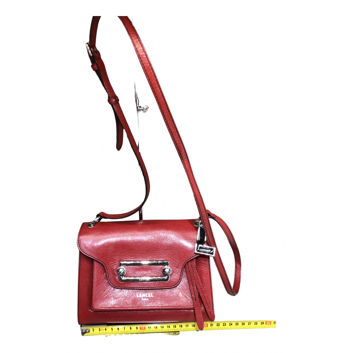 Lancel \N Clutch in  Rot Leder