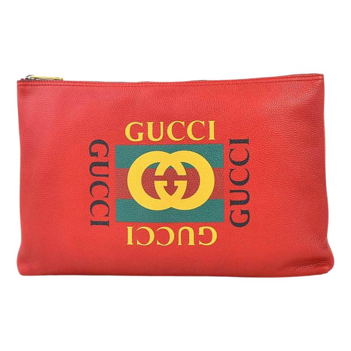 Gucci - Sac   pour homme en cuir - rouge