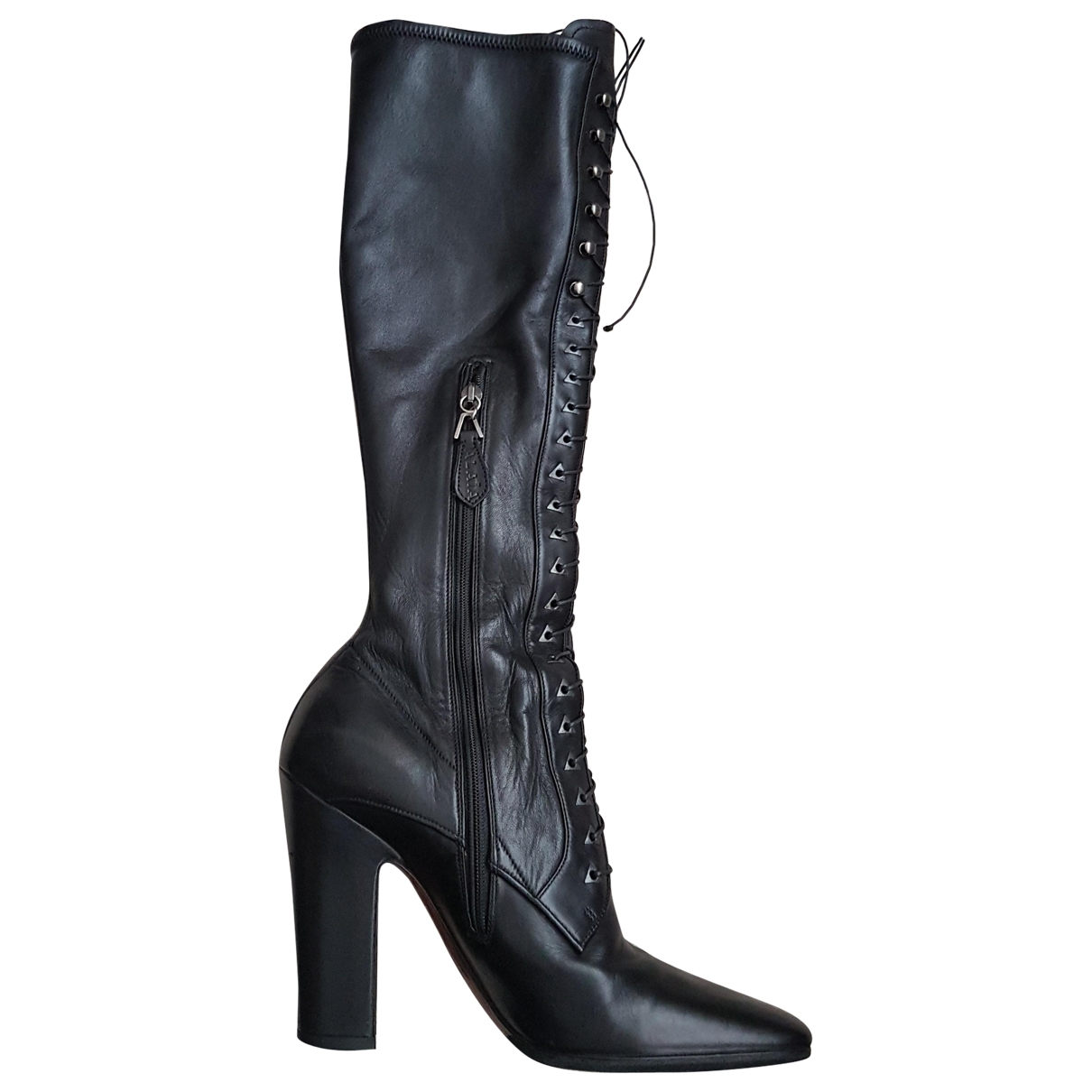 Alaïa \N Black Leather Boots for Women 38 EU