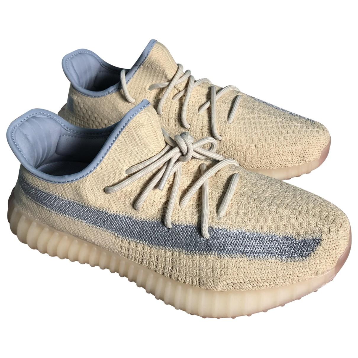 Yeezy X Adidas - Baskets Boost 350 V2 pour homme en toile - beige