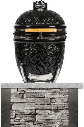 RTAC-K3-SG Built-In Coyote Asado Stand  in Stacked Stone with Stone Gray