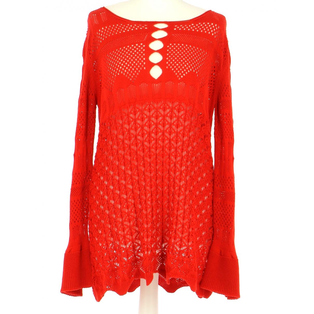 Twin Set N Red Cotton Knitwear & Sweatshirts for Men 42 FR