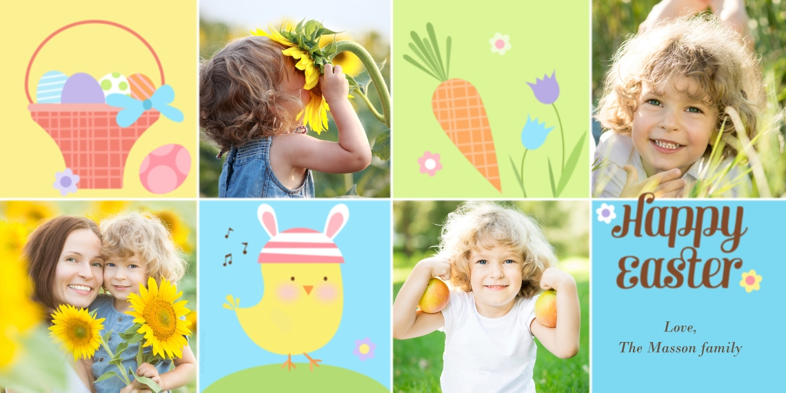 Easter Cards 4x8 Flat Card Set, 85lb, Card & Stationery -Happy Easter