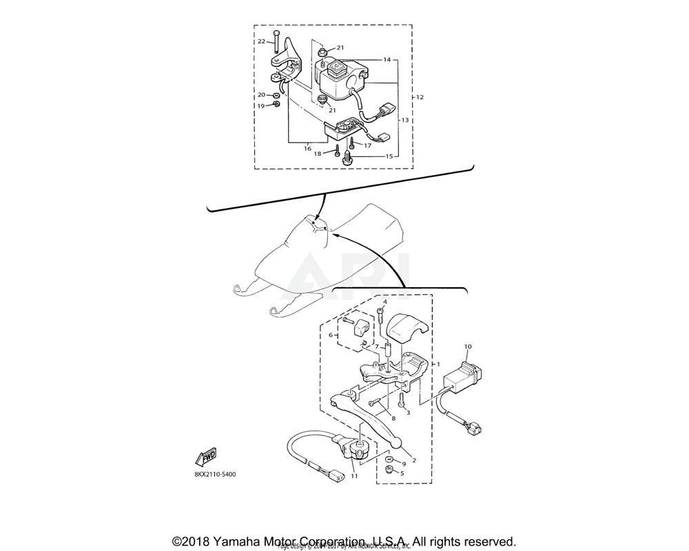Yamaha OEM 8K4-W8393-00-00 LEVER LOCK ASSY