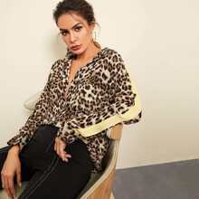 Single Pocket Leopard Print Shirt