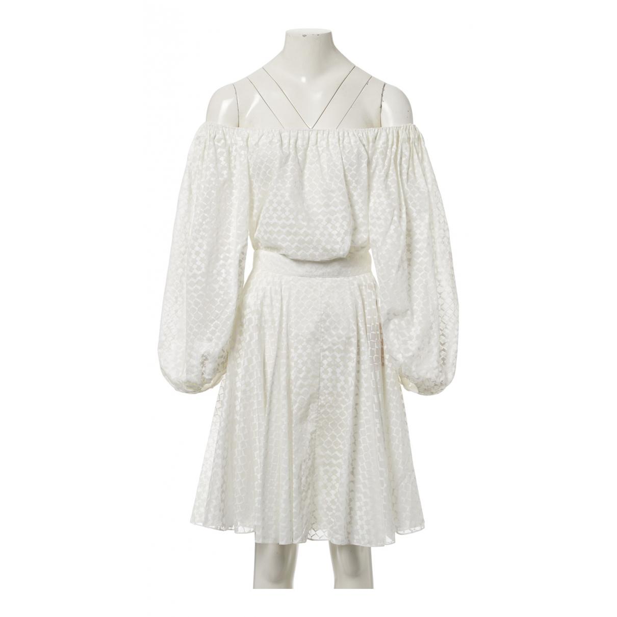 Alaia - Top   pour femme en coton - blanc