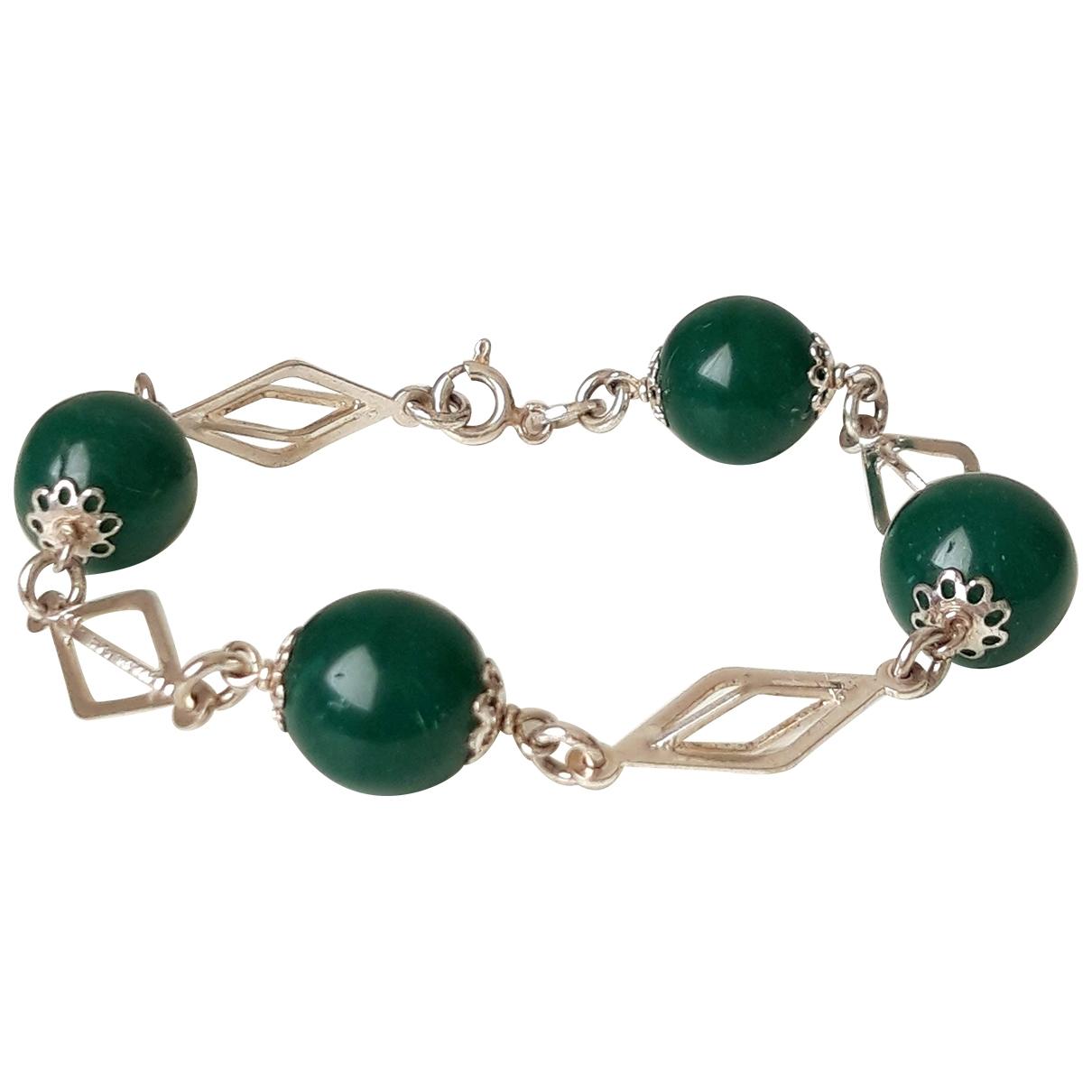 - Bracelet   pour femme en argent - vert