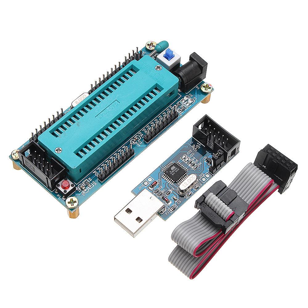 AVR ATMEGA16 Minimum System Development Board ATmega32 + USB ISP USBasp Programmer with Download Cable