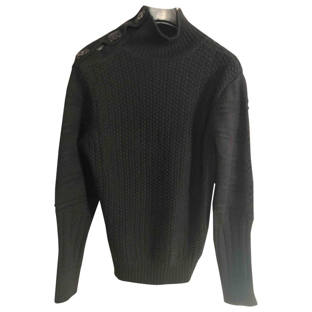 Non Signé / Unsigned \N Black Wool Knitwear & Sweatshirts for Men L International