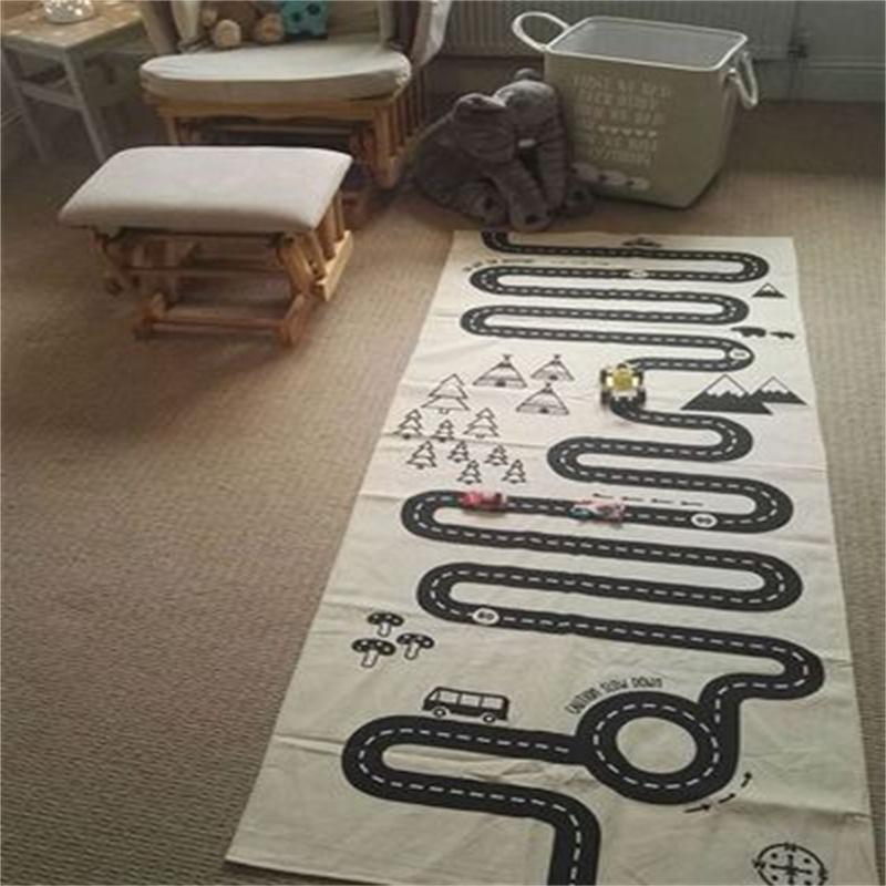 Expressway Printed Rectangular Cotton Baby Play Floor Mat/Crawling Pad