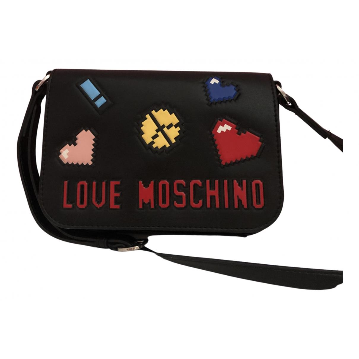 Moschino Love - Sac a main   pour femme en cuir - noir