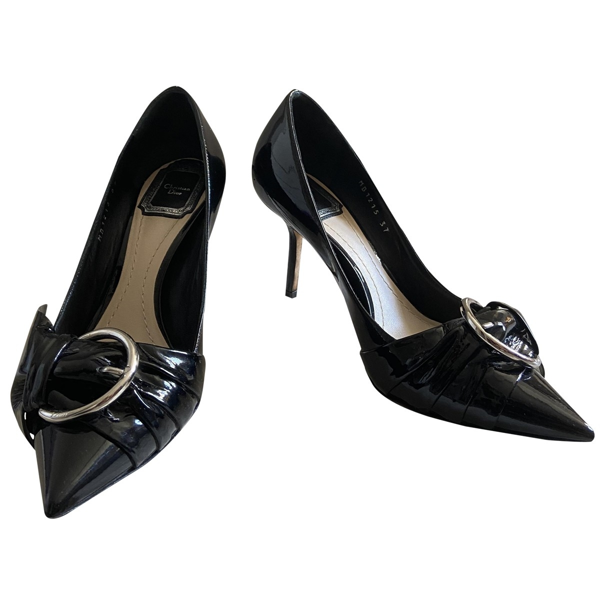 Dior - Escarpins   pour femme en cuir - noir