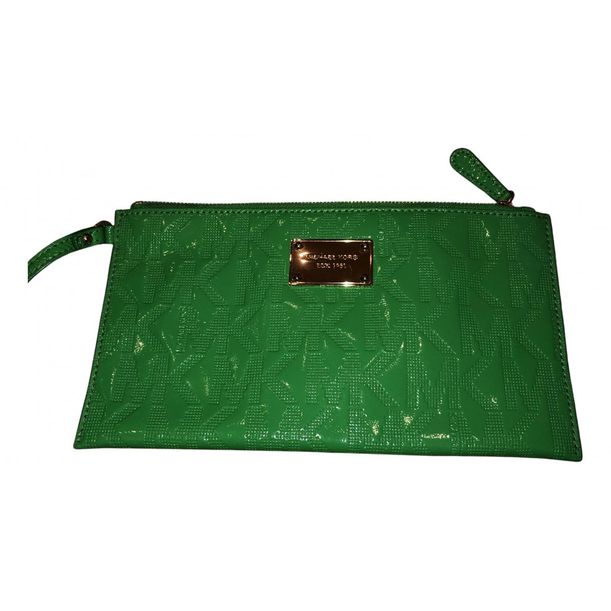 Michael Kors - Pochette   pour femme en cuir verni - vert
