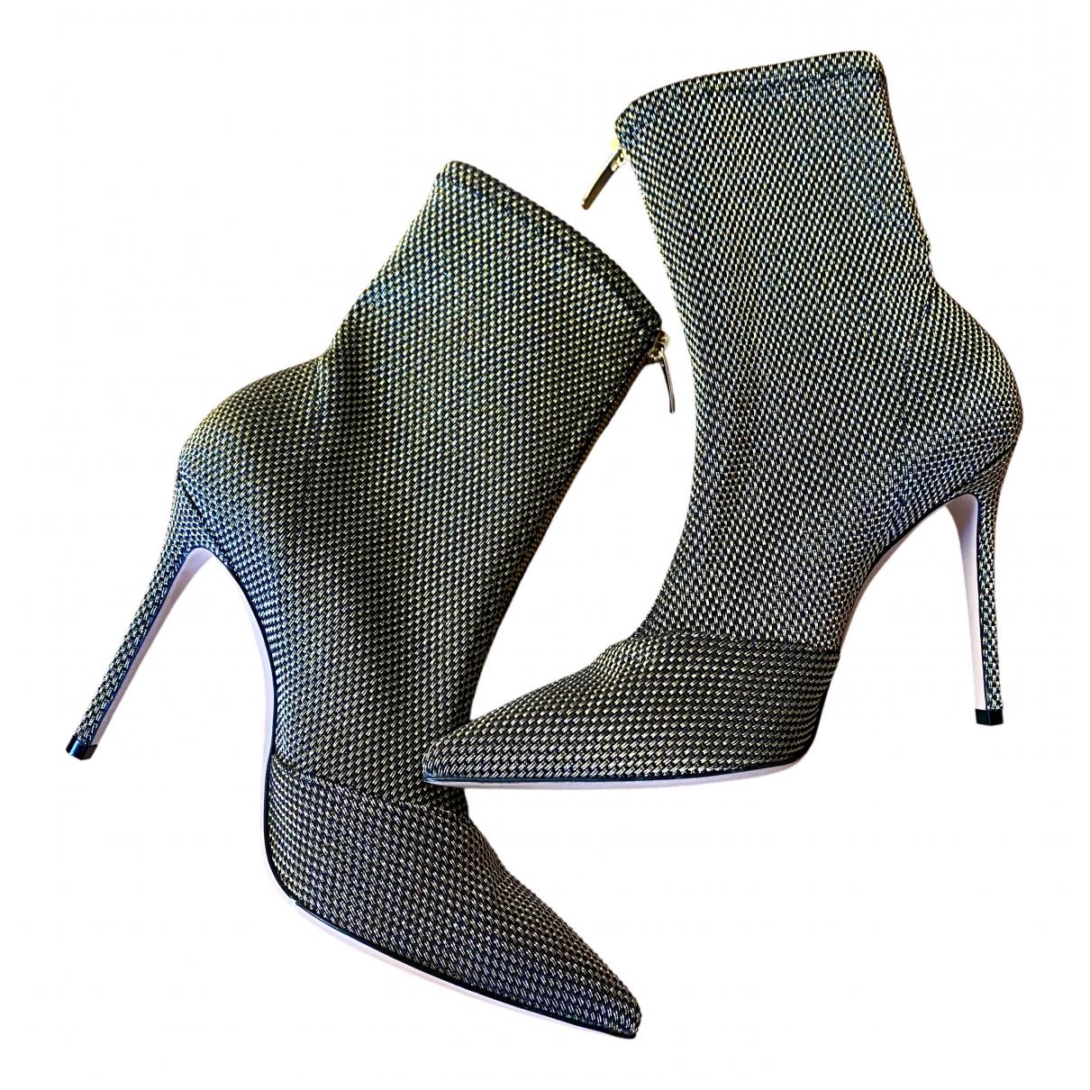 Gianvito Rossi - Boots   pour femme en toile - argente