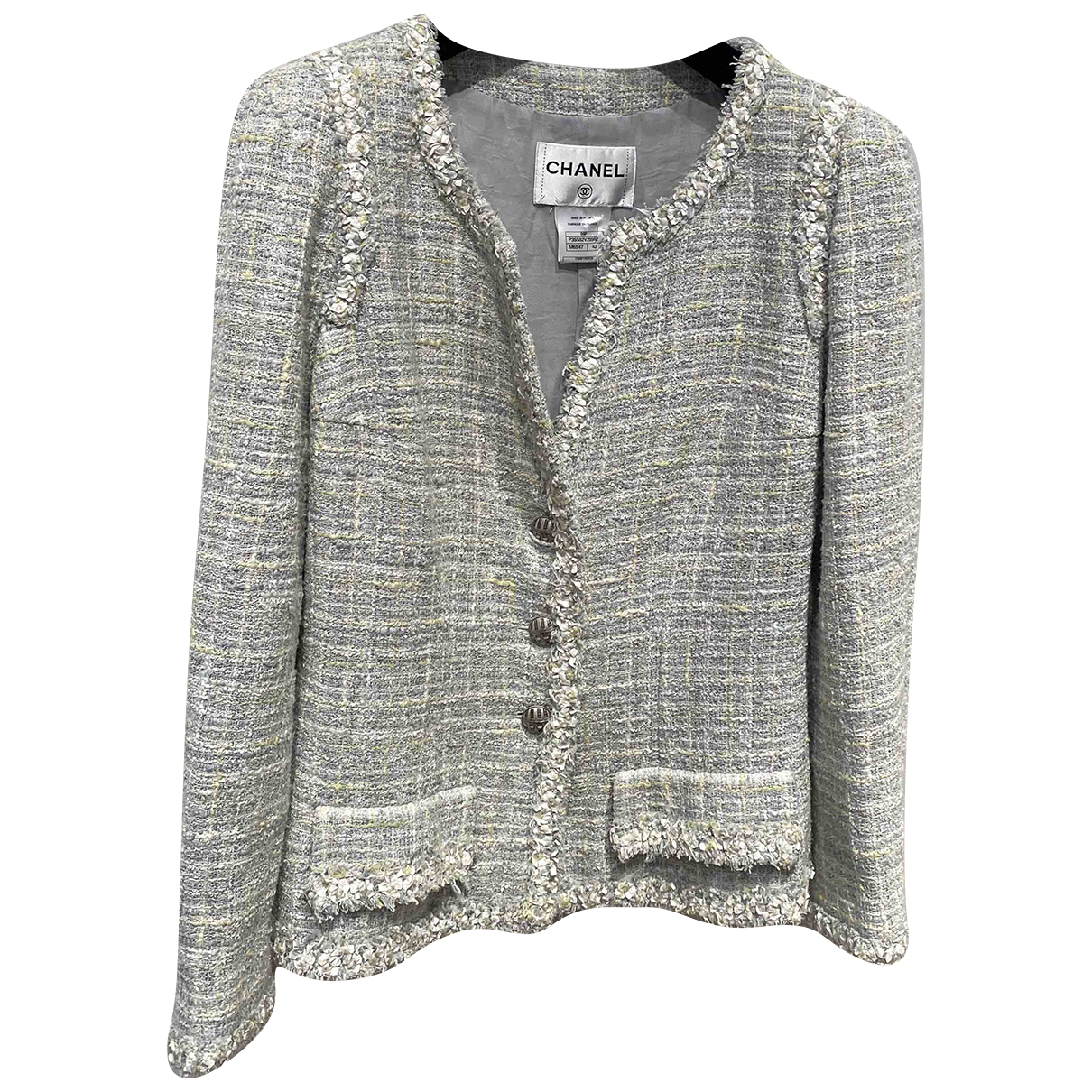 Chanel \N Jacke in  Blau Tweed