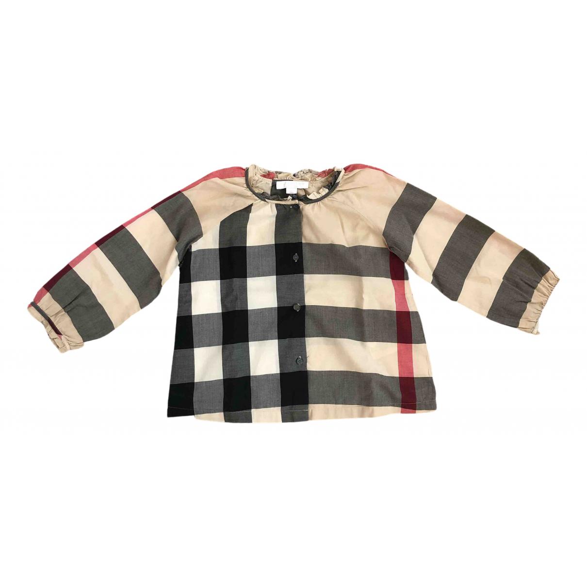 Burberry - Top   pour enfant en coton - beige
