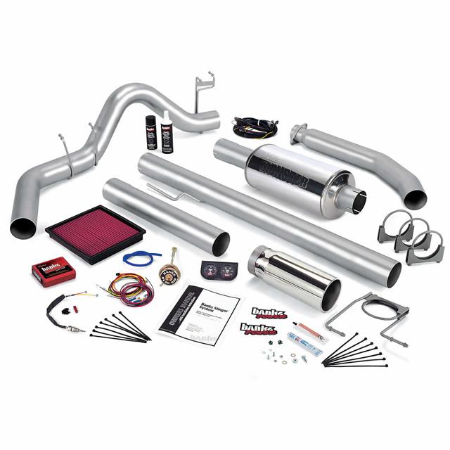 Stinger Bundle Power System W/Single Exit Exhaust Chrome Tip 02 Dodge 5.9L Standard Cab 245hp Banks Power 49371