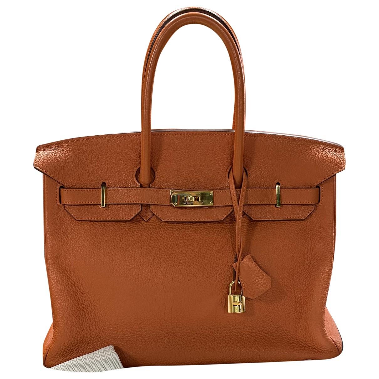 Hermès Birkin 35 Orange Leather handbag for Women N
