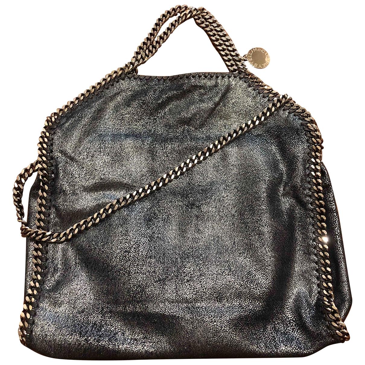 Stella Mccartney Falabella Handtasche in  Blau Leinen