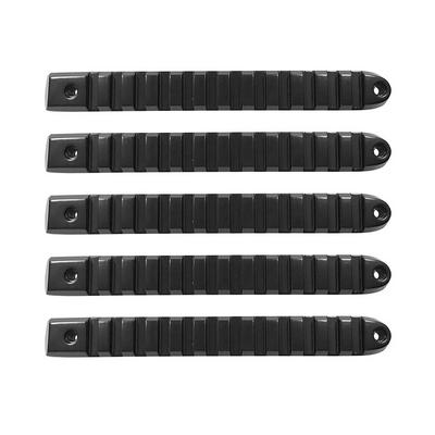 DV8 Offroad Rail Style Door Handle Inserts (Black) - D-JP-190028-BK-5