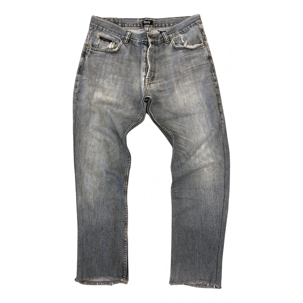 Dolce & Gabbana \N Grey Cotton Jeans for Men 44 FR