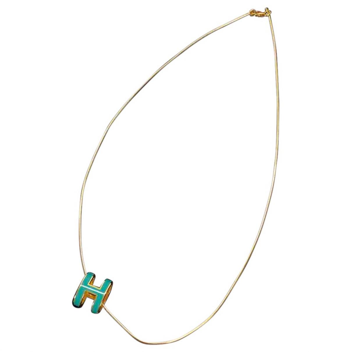 Hermes - Collier Pop H pour femme en metal - vert