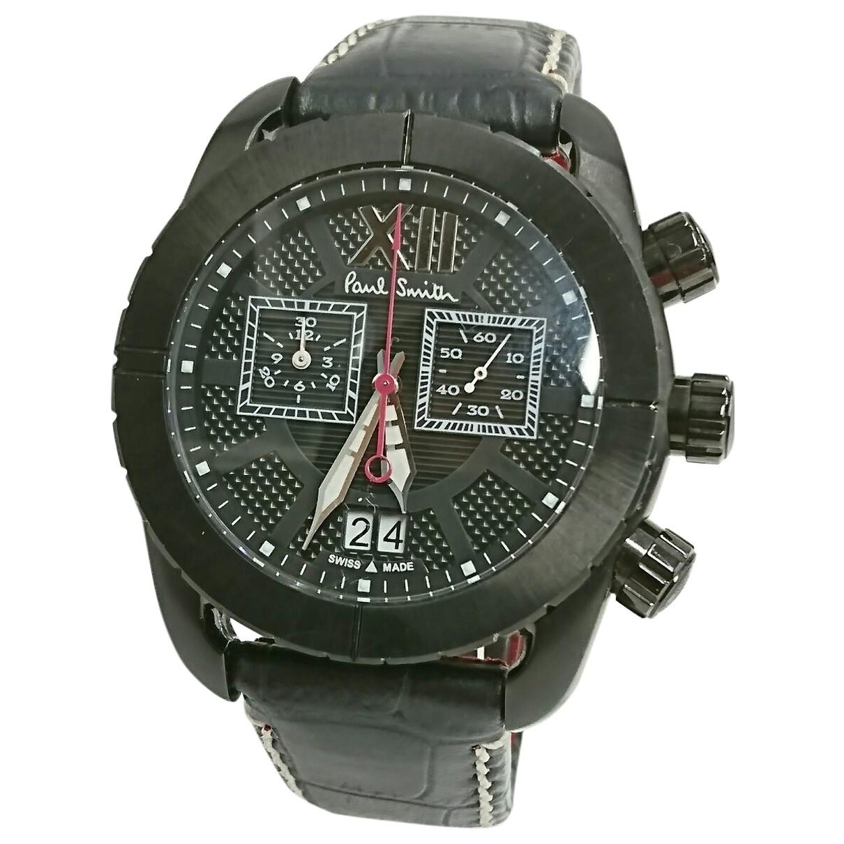 Paul Smith \N Black Steel watch for Men \N