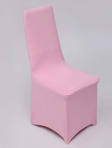 Milanoo Pink Elastic Wedding Chair Cover