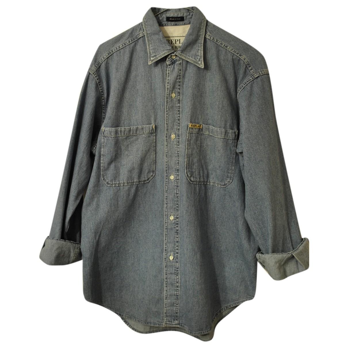 Replay \N Hemden in  Blau Denim - Jeans