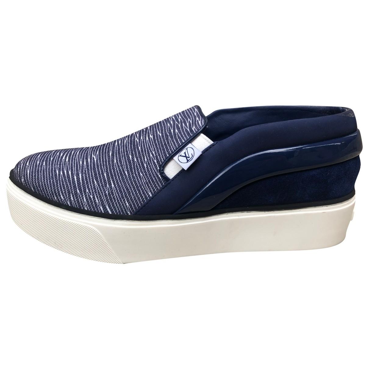 Louis Vuitton - Baskets   pour femme en toile - bleu