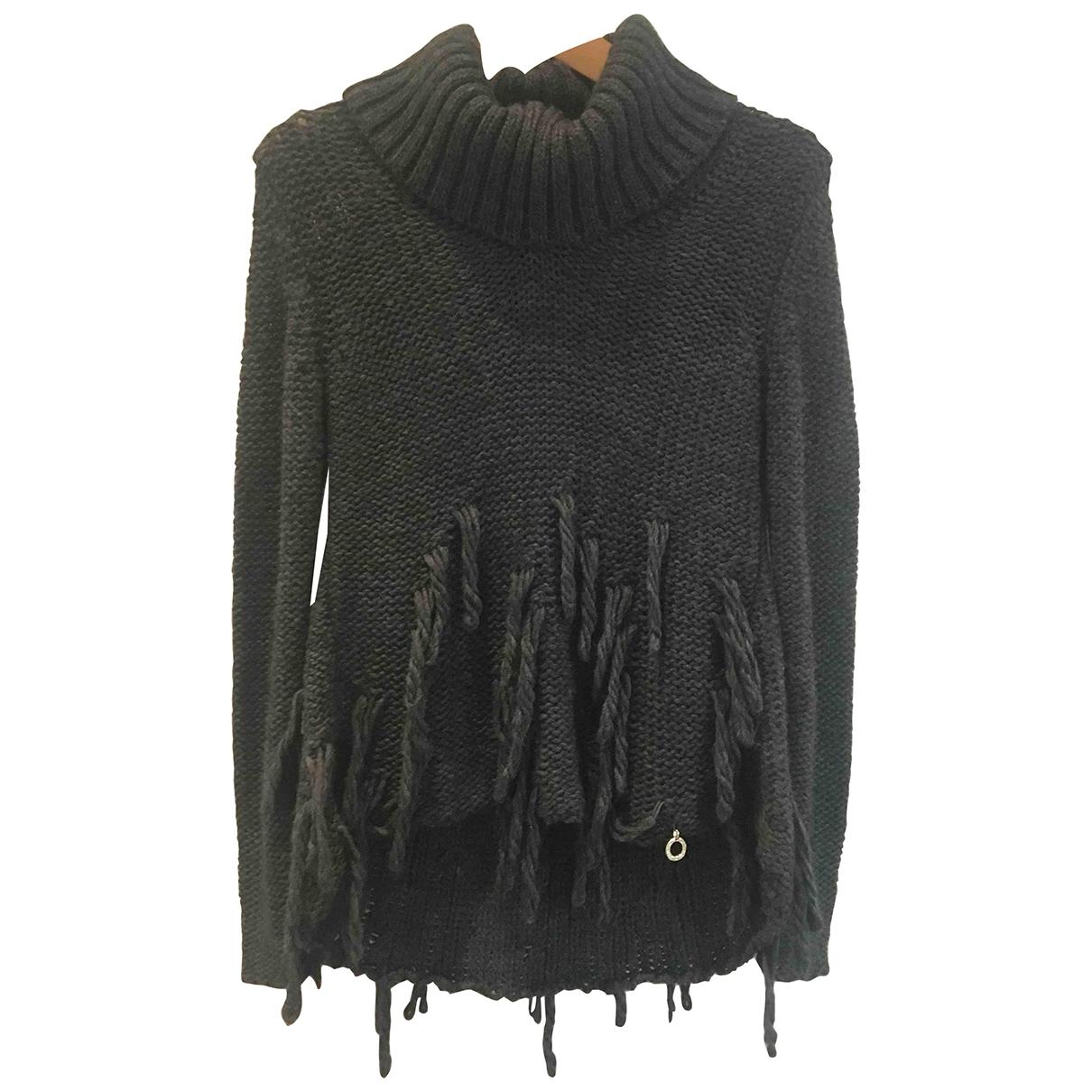 Mangano \N Pullover in  Grau Wolle