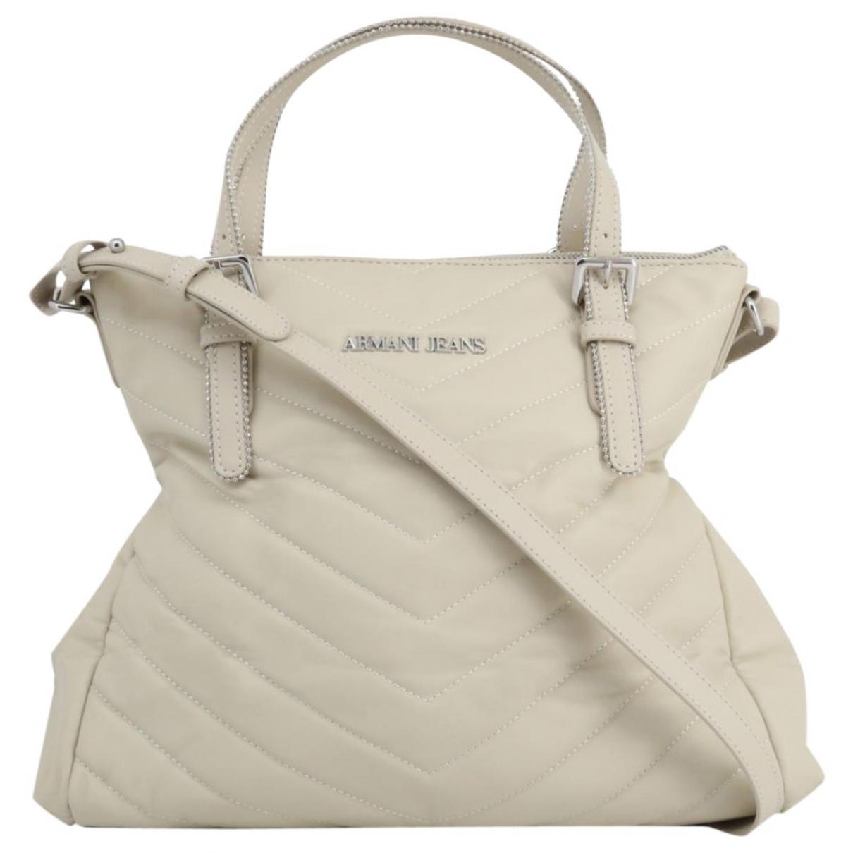 Armani Jeans \N Handtasche in  Beige Leder
