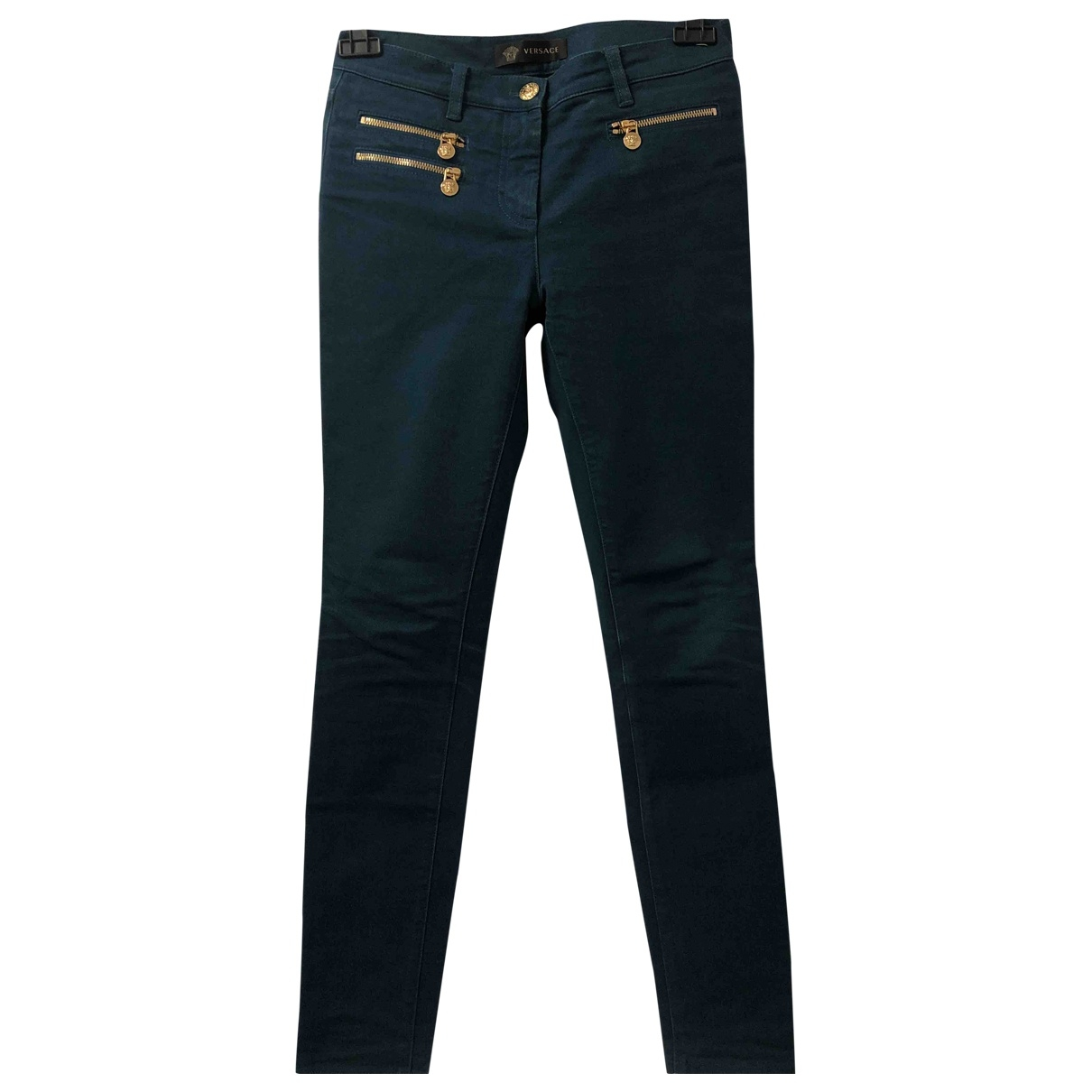 Versace \N Green Cotton - elasthane Jeans for Women 27 US