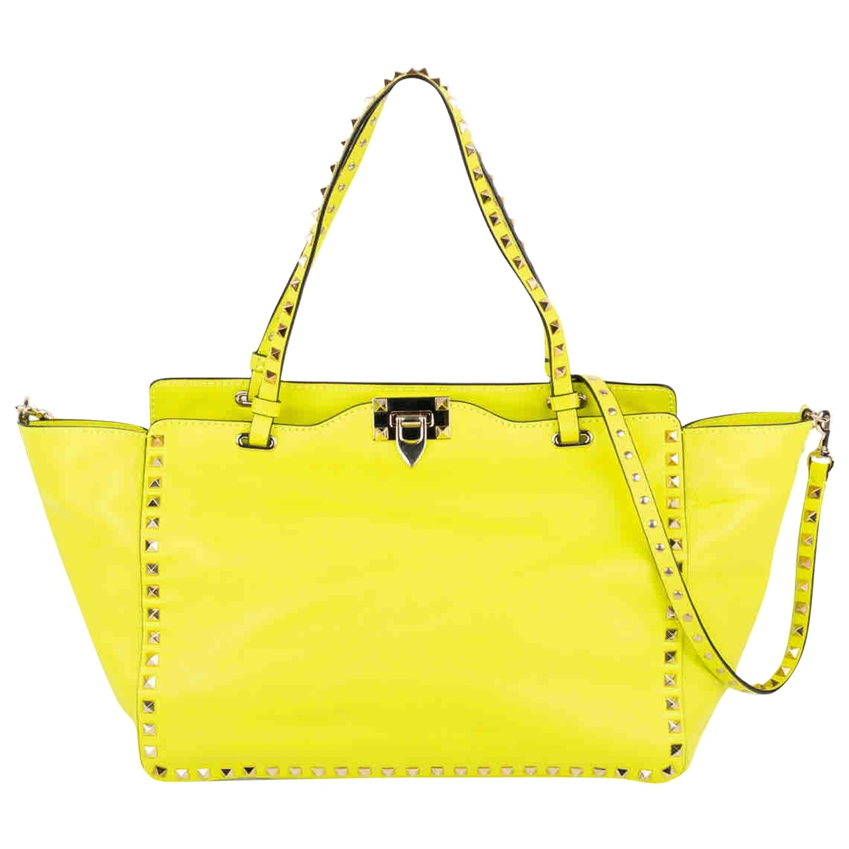 Valentino Garavani Rockstud Yellow Leather handbag for Women \N