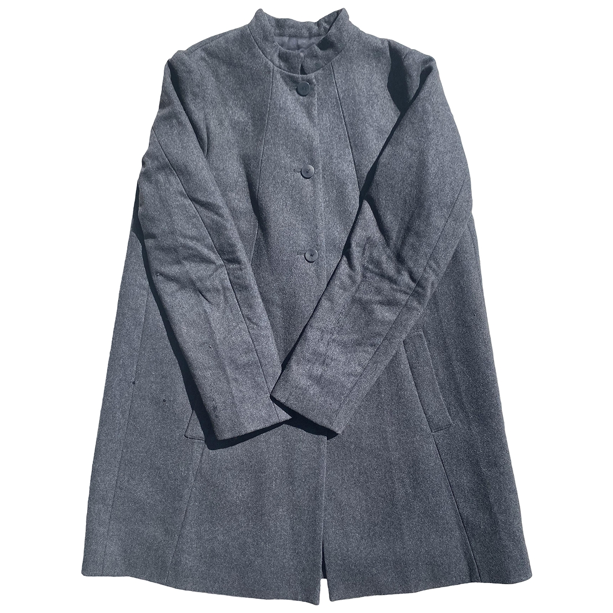 Bruuns Bazaar \N Grey Wool coat for Women 38 FR