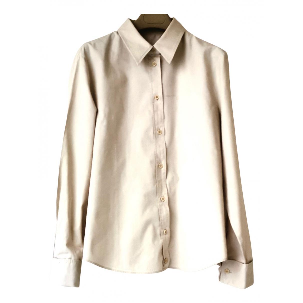 Boss - Top   pour femme en coton - beige