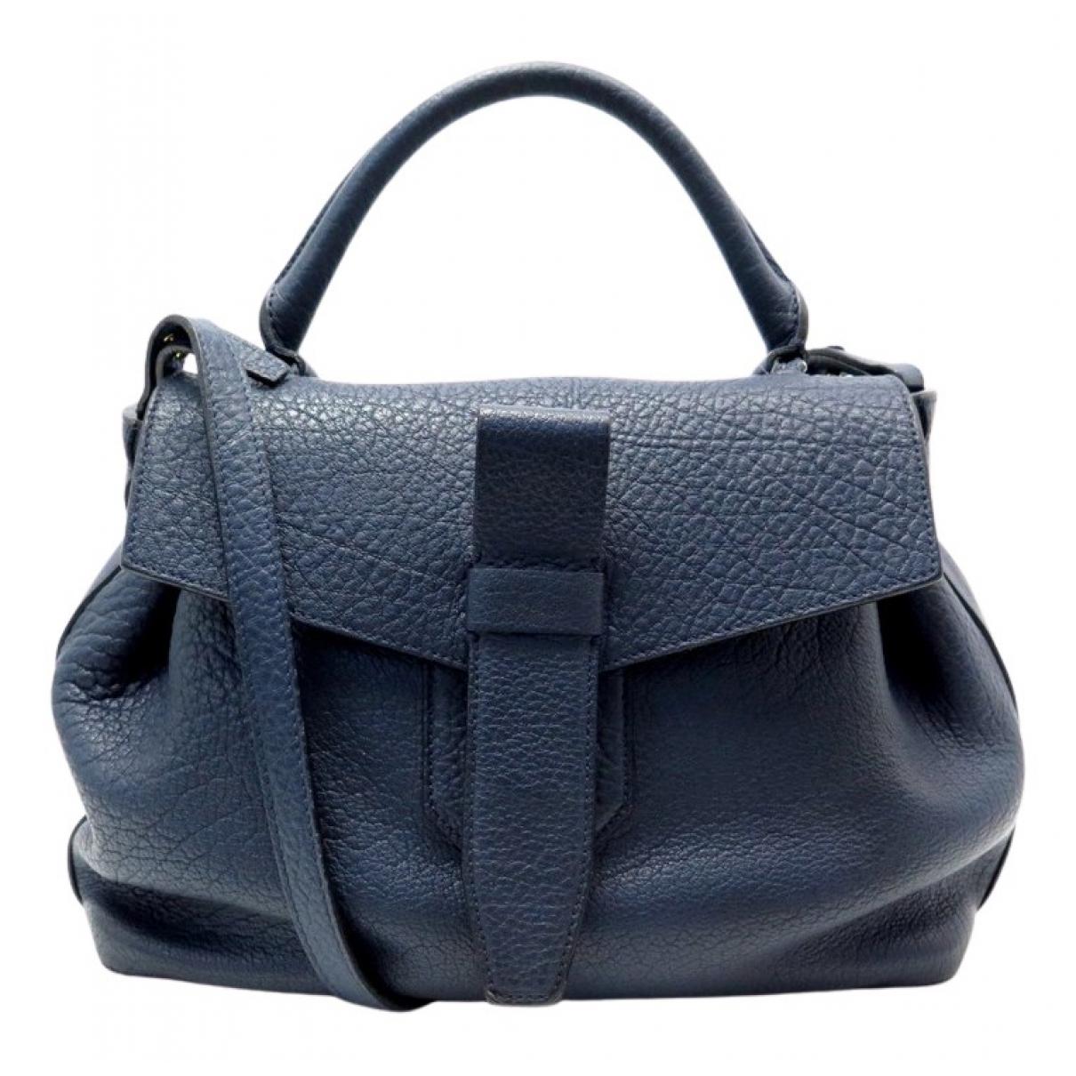 Lancel Charlie Handtasche in  Blau Leder