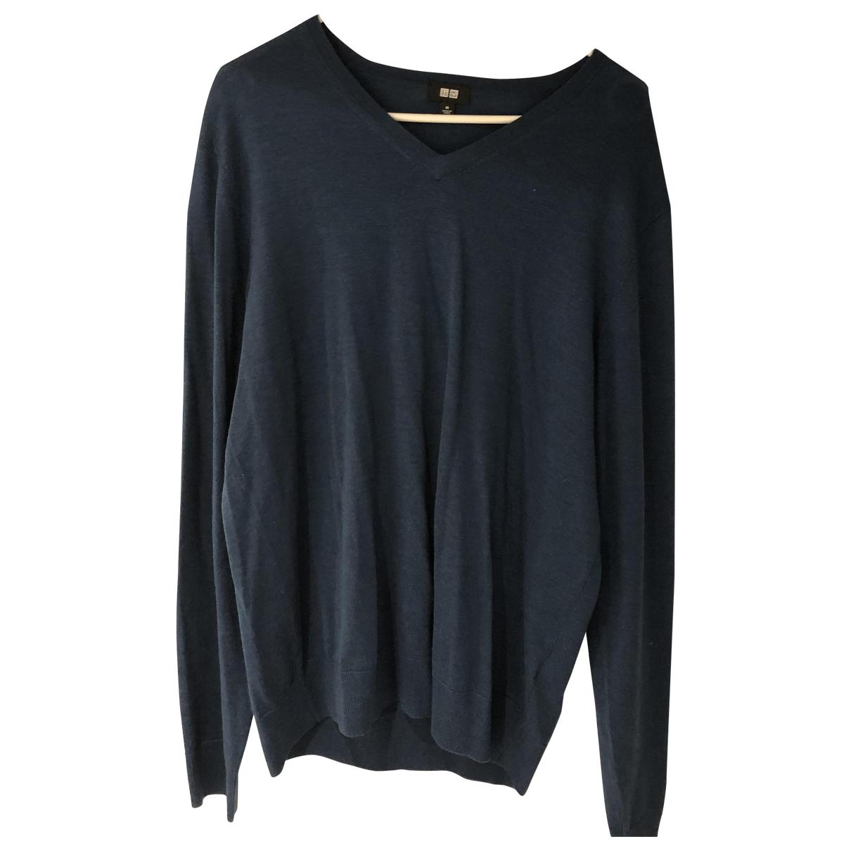 Uniqlo - Pulls.Gilets.Sweats   pour homme en laine - bleu