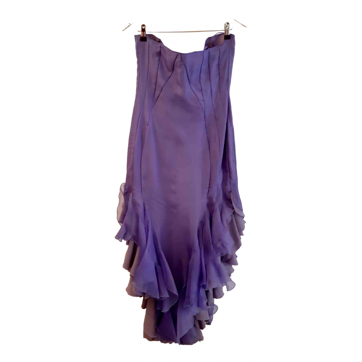 Non Signé / Unsigned \N Purple Silk dress for Women 44 FR