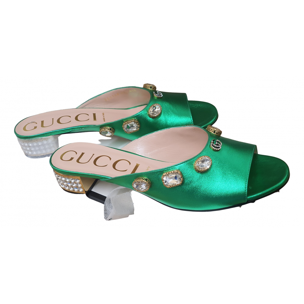 Gucci \N Green Leather Sandals for Women 41.5 EU