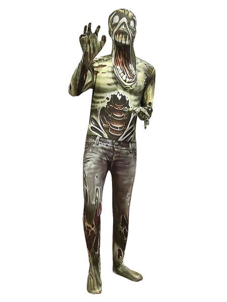 Milanoo Halloween Scary Zombie Jumpsuit Cosplay Costume Halloween