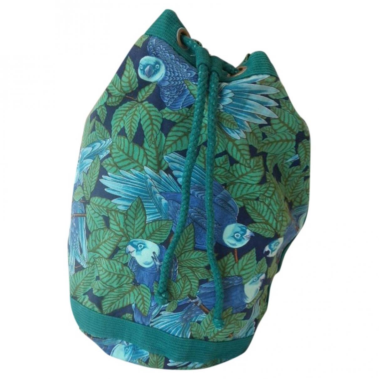 Hermes \N Handtasche in  Gruen Baumwolle