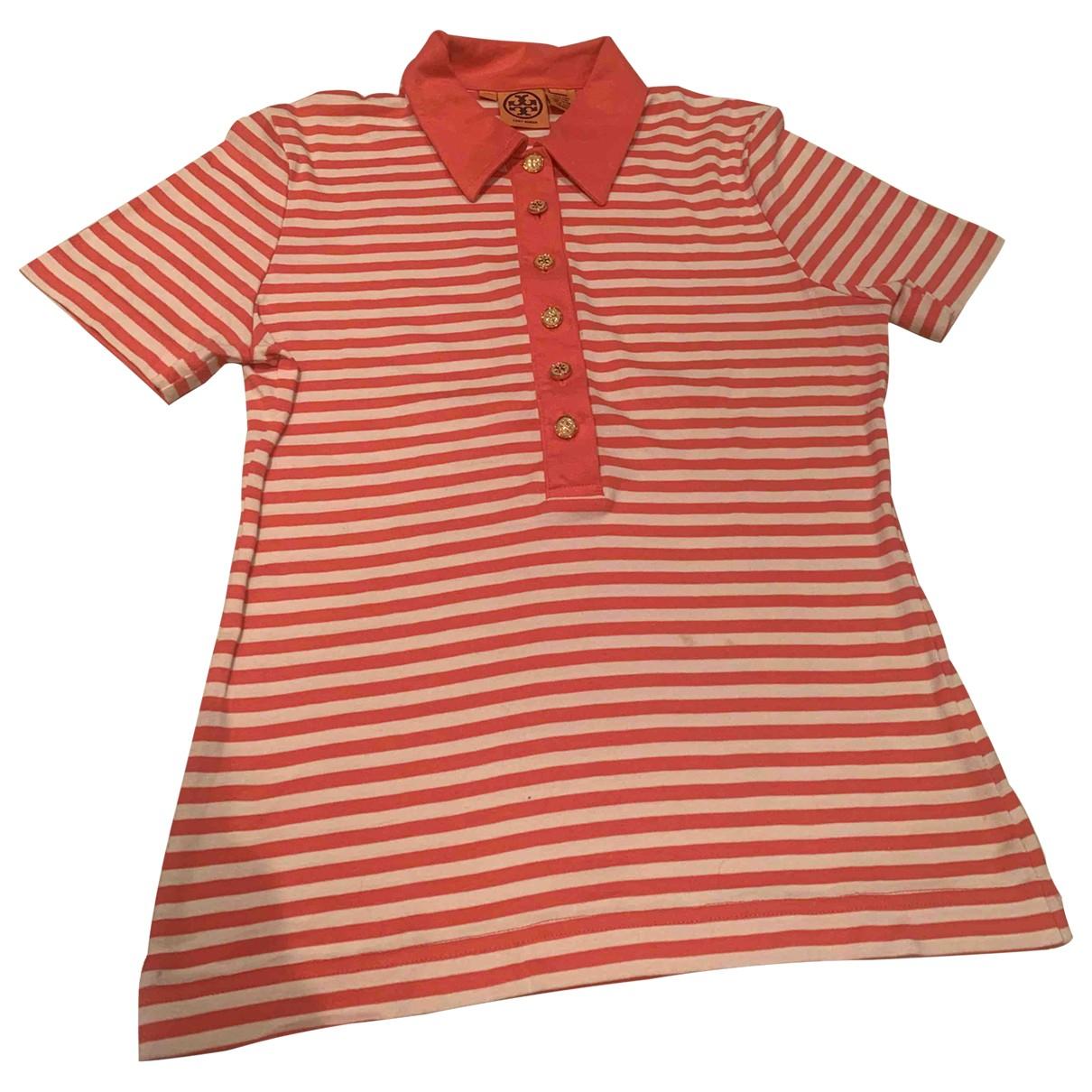 Tory Burch - Top   pour femme en coton - orange