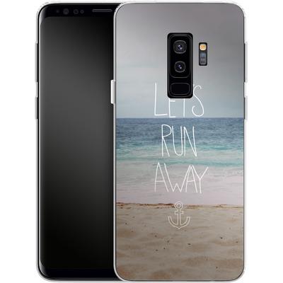 Samsung Galaxy S9 Plus Silikon Handyhuelle - Lets Run Away - Sandy Beach von Leah Flores